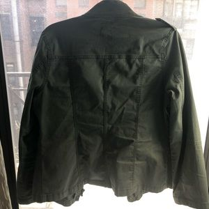 An army green jacket.